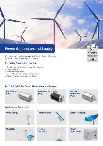 Segment Flyer Power Generation and Supply