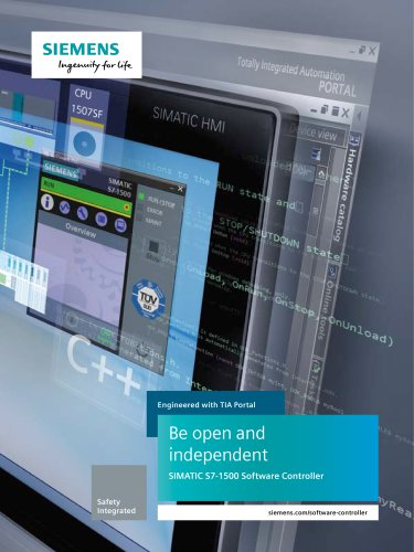 Be open and independentSIMATIC S7-1500 Software Controller