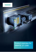 Product overview forSIMATIC S7-1500