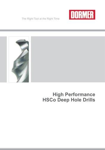 HSCo Deep Hole Drills