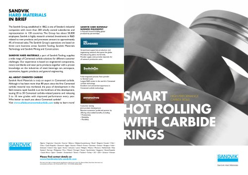 Smart Hot Rolling with Carbide Rings