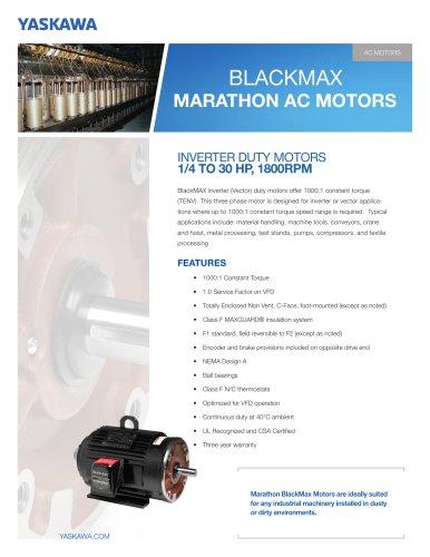 BlackMax Marathon AC Motors - Yaskawa America, Inc  - Drives