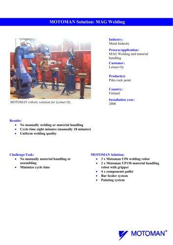 Case study Leimet MAG welding