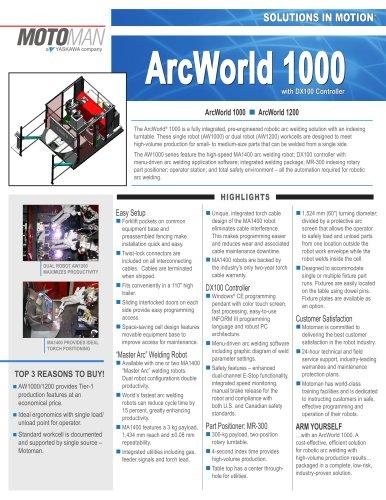 Motoman ArcWorld 1000 Welding Solution