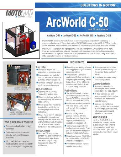 Motoman ArcWorld C-50 Compact Welding Solution