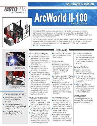 Motoman ArcWorld II-100 with DX100 Controller