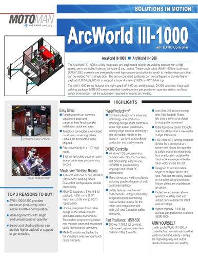 Motoman ArcWorld III-1000 Welding Solution