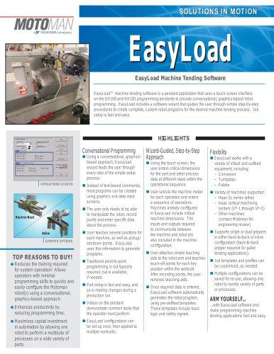 Motoman EasyLoad Machine Tending Software