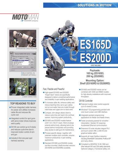 Motoman ES165D/ES200D Robots with Spot Harness
