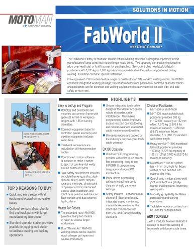 Motoman FabWorld II