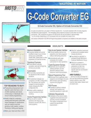 Motoman G-Code Converter EG