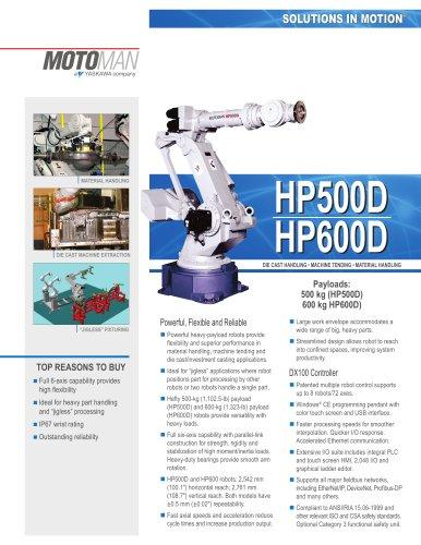 """Motoman """"High Performance"""" HP500D/HP600D Robots"""