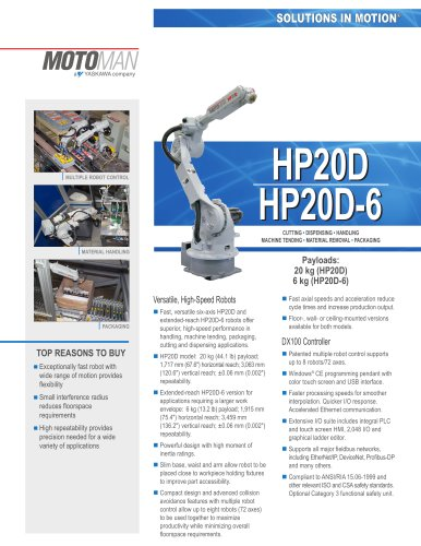 Motoman HP20D and HP20D-6 Robots