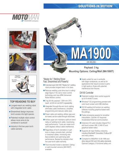 """Motoman MA1900 """"Master Arc"""" Welding Robot"""