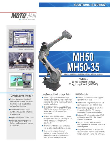 Motoman MH50 and MH50-35 Robots