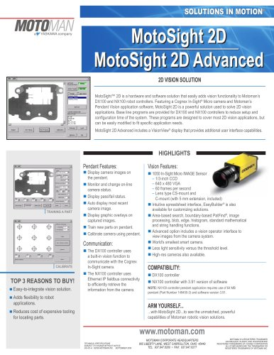 Motoman MotoSight 2D Vision Solution