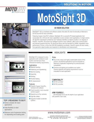 Motoman MotoSight 3D Vision Solution