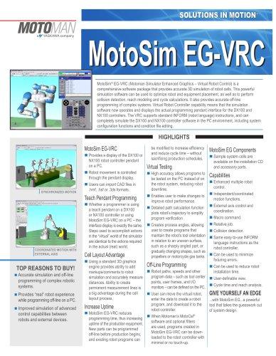 Motoman MotoSim EG Simulation Software