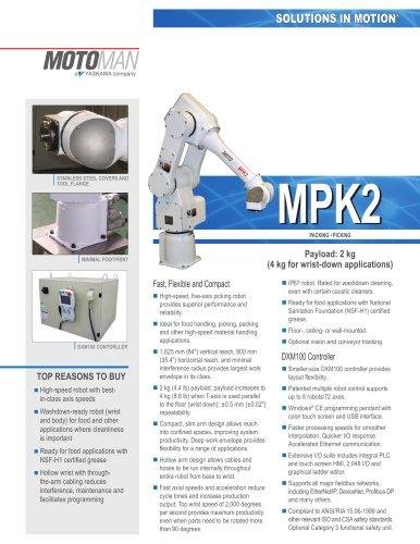 "Motoman MPK2 5-Axis ""Picking"" Robot"
