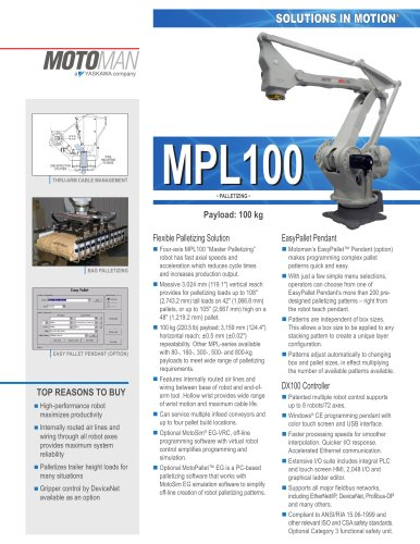"Motoman MPL100 ""Master Palletizing"" Robot"