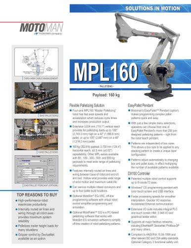 "Motoman MPL160 ""Master Palletizing"" Robot"