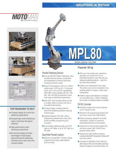 "Motoman MPL80 ""Master Palletizing"" Robot"