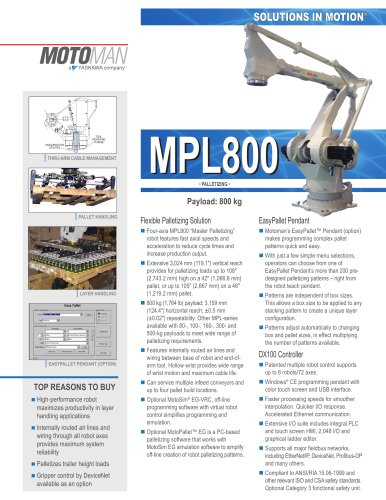 "Motoman MPL800 ""Master Palletizing"" Robot"