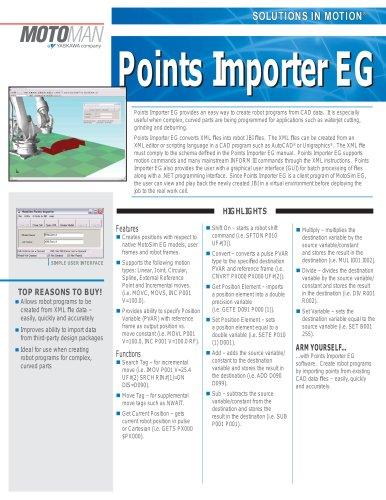 Motoman Points Importer EG Software