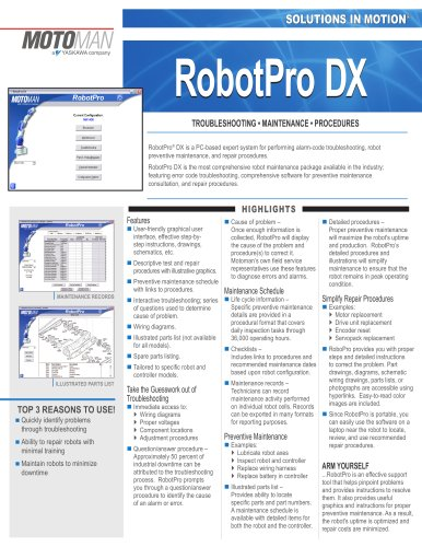 Motoman RobotPro DX Software