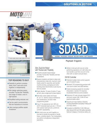 "Motoman SDA5D ""Slim, Dual-Arm"" Robot"