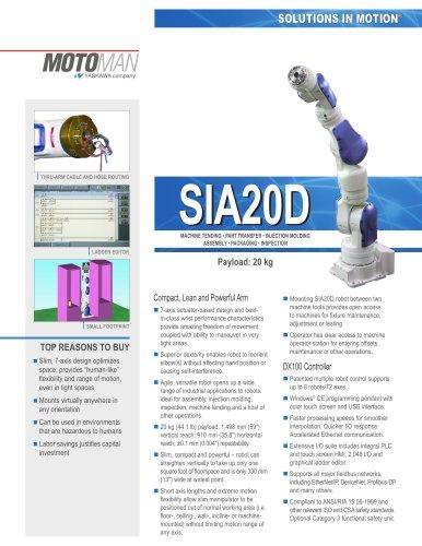 Motoman SIA20D 7-Axis Robot