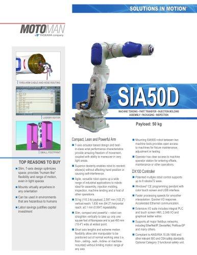 Motoman SIA50D 7-Axis Robot