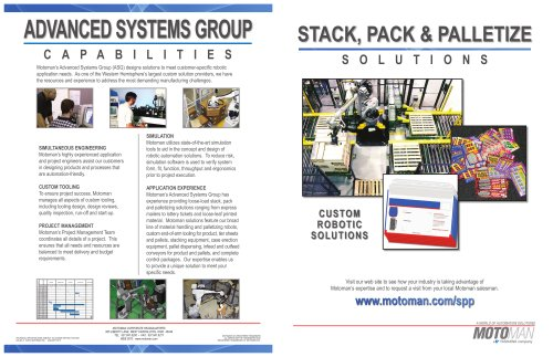 Motoman Solutions - Stack, Pack, Palletize