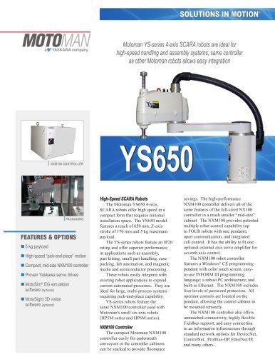 Motoman YS650 4-Axis SCARA Robot