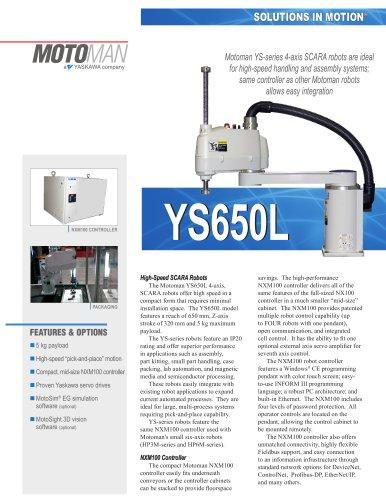 Motoman YS650L 4-Axis SCARA Robot