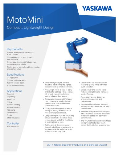 MotoMini Compact, Lightweight Design