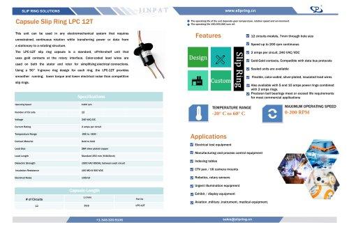 Capsule Slip Ring LPC 12T