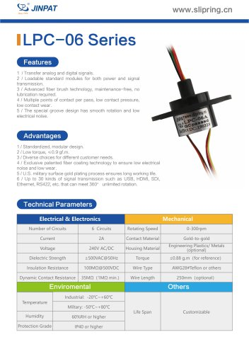 LPC-06 Series Capsule Slip Ring