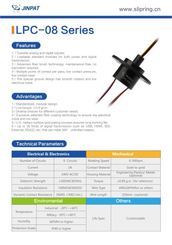 LPC-08 Series Capsule Slip Ring