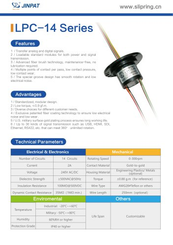 LPC-14 Series Capsule Slip Ring