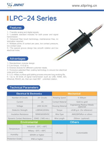 LPC-24 Series Capsule Slip Ring