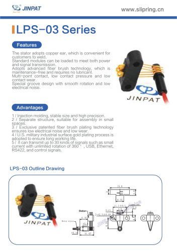 LPS-03 Series Sepatate Slip Rings