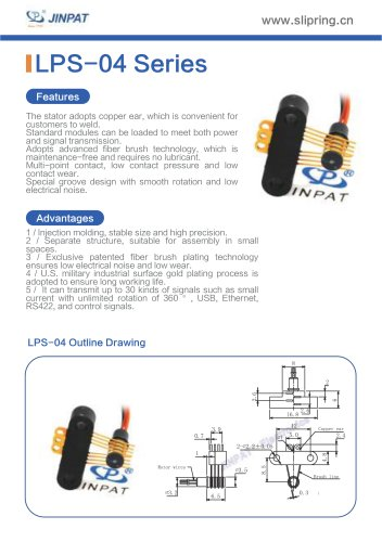 LPS-04 Series Sepatate Slip Rings