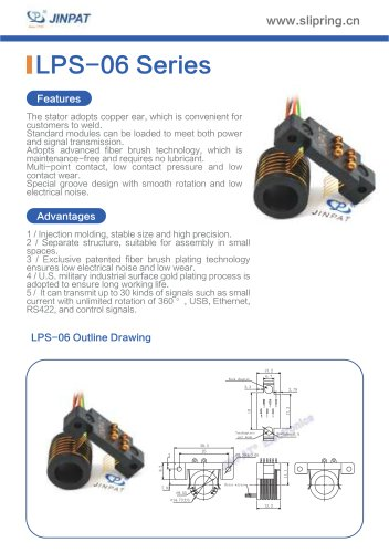 LPS-06 Series Sepatate Slip Rings