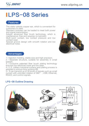 LPS-08 Series Sepatate Slip Rings