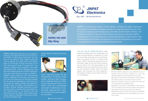 USB slip ring\ HDMI Signal  for VR application