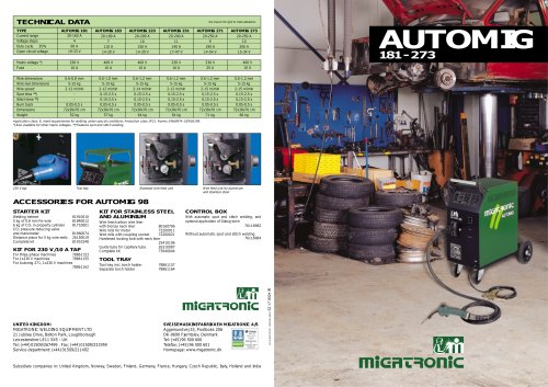 Automig Step-regulated MIG/MAG
