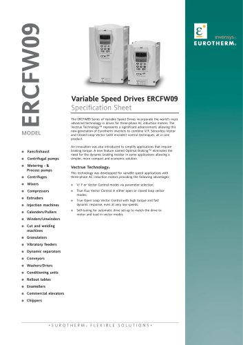 Variable Speed Drives ERCFW09