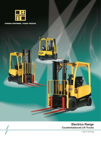 Electrics Range Counterbalanced Lift Trucks