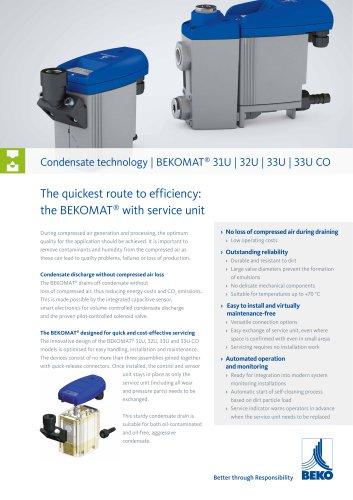 Condensate drain 3xU with service unit